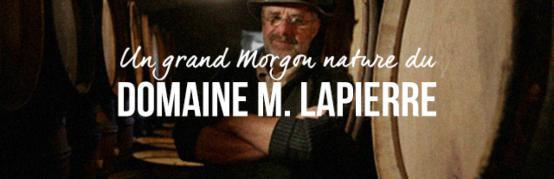 Un grand Morgon nature du Domaine M. Lapierre