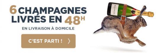 6 champagnes livrés en 48h
