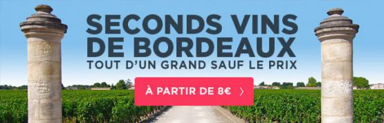 Seconds vins des grands châteaux de Bordeaux
