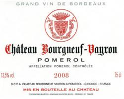Chateau Bourgneuf (Vayron)