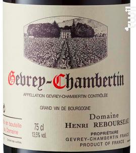 Gevrey-Chambertin • Aux Corvées - Domaine Henri Rebourseau - 2011 - Rouge