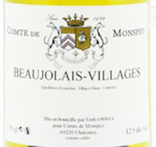 Beaujolais Village Blanc - Domaine Comte De Monspey - 2019 - Blanc