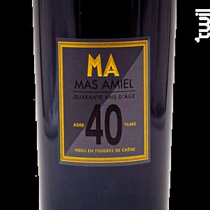 40 Ans - Mas Amiel - Non millésimé - Rouge