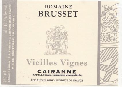 Cairanne Vieilles Vignes - Domaine Brusset - 2017 - Rouge