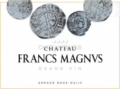 CHÂTEAU FRANCS MAGNUS - Château Francs Magnus - 2016 - Rouge