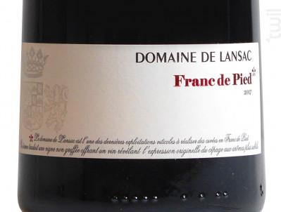 Franc de Pied - Domaine de Lansac - 2017 - Rouge