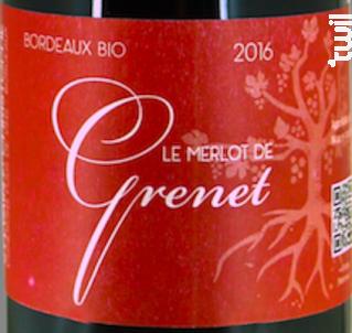 Le merlot de Grenet - Sylvain & Christophe, vignerons fous de vins - 2018 - Rouge