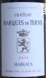 Château Marquis de Terme - Château Marquis de Terme - 2010 - Rouge