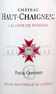 Chateau Haut-Chaigneau - Vignobles Chatonnet - 2019 - Rouge
