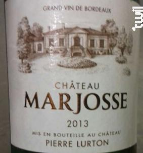 Château Marjosse - Château Marjosse - 2013 - Blanc