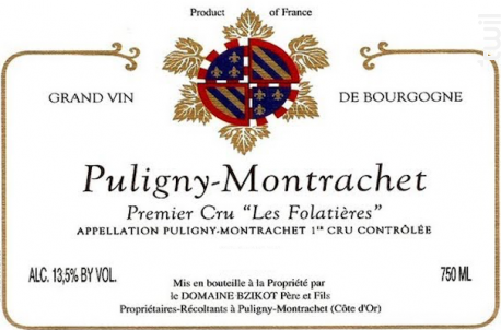 Puligny-Montrachet Premier Cru Les Folatières - Domaine Bzikot - 2017 - Blanc