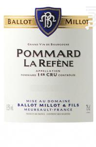 Pommard Premier Cru La Réfène - Domaine Ballot-Millot - 2016 - Rouge