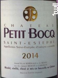 Château Petit Bocq - Château Petit Bocq - 2014 - Rouge