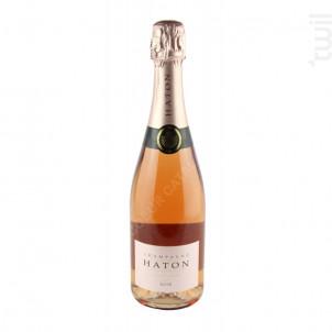 Champagne Haton - Rosé 0,75l - Champagne Haton et Fils - Non millésimé - Effervescent
