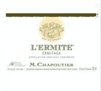 L'Ermite - Maison M. Chapoutier - 2004 - Rouge