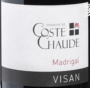 Madrigal - Domaine de Coste Chaude - 2016 - Rouge