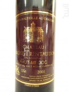 Château Larose Perganson Cru Bourgeois - Vignobles de Larose - Château Larose-Trintaudon - 2001 - Rouge