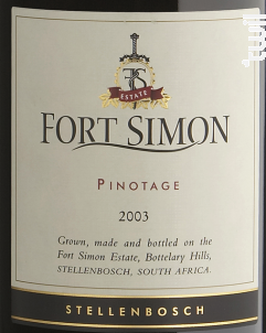 Pinotage - Fort Simon - 2014 - Rouge