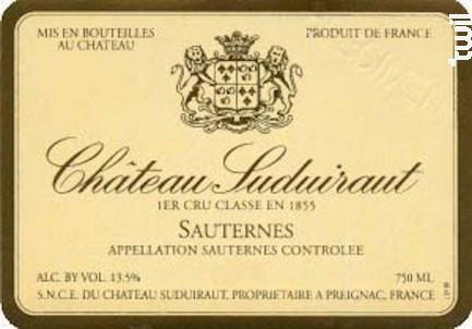 Château Suduiraut - Château Suduiraut - 2011 - Blanc