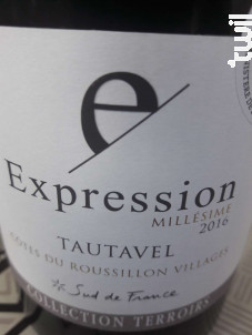 Expression  Tautavel - Vignobles d'Agly - 2018 - Rouge