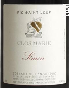 Simon - Clos Marie - 2014 - Rouge