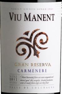 Gran reserva - carmenere - Viu Manent - 2016 - Rouge