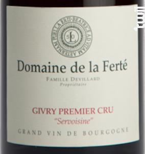 Givry 1er Cru Servoisine - Domaine de la Ferté - 2019 - Rouge