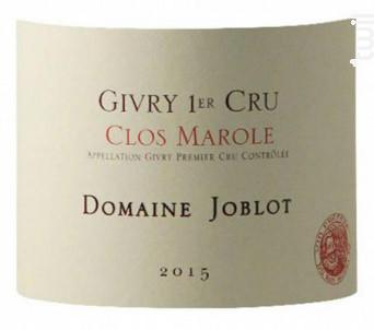 Givry 1er Cru Clos Marole - Domaine Joblot - 2016 - Rouge