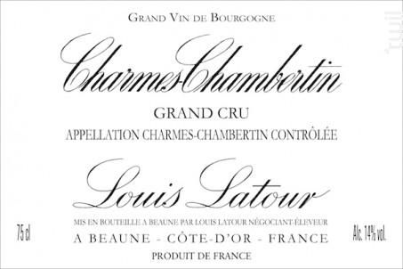 Charmes-Chambertin - Maison Louis Latour - 2016 - Rouge
