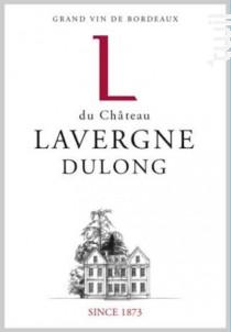 L du Château Lavergne Dulong - Château Lavergne Dulong - 2015 - Rouge