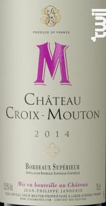 Château CROIX MOUTON - Château Croix-Mouton - 2013 - Rouge