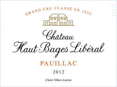 Château Haut-Bages Libéral - Château Haut-Bages Libéral - 2012 - Rouge