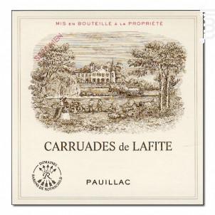Carruades de Lafite - Domaines Barons de Rothschild - Château Lafite Rothschild - 2016 - Rouge