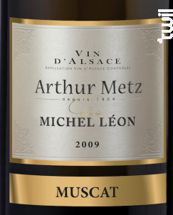 Cuvée Michel Léon Muscat - Arthur METZ - 2016 - Blanc