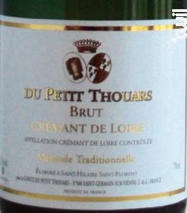 CRÉMANT BLANC CHÂTEAU DU PETIT THOUARS - Château Du Petit Thouars - Non millésimé - Effervescent