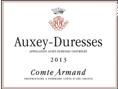 Auxey Duresses - Comte Armand - Domaine des Epeneaux - 2013 - Rouge