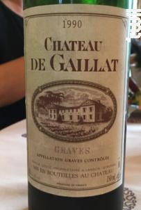 Château de Gaillat - Famille Coste - Château de Gaillat - 1991 - Rouge