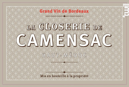 La Closerie de Camensac - Château de Camensac - 2014 - Rouge