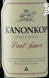 Paul sauer - cabernet sauvignon, cabernet franc, merlot - KANONKOP - 2015 - Rouge