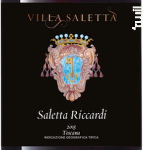 Saletta Riccardi - Villa Saletta - 2015 - Rouge