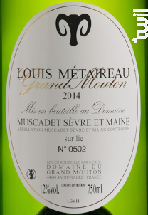 Grand Mouton - DOMAINE LOUIS METAIREAU GRAND MOUTON - 2019 - Blanc