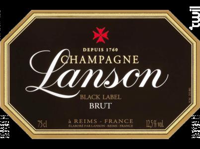 Black Label - Lanson - Non millésimé - Effervescent