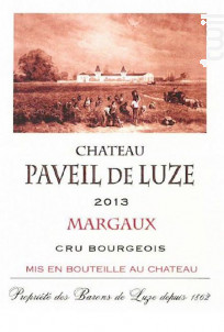 Château paveil de luze - Château Paveil de Luze - 2014 - Rouge