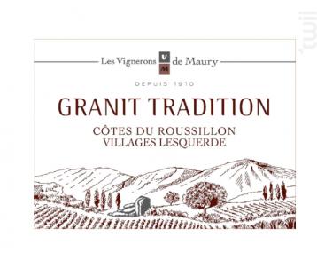 Granit Tradition - Les Vignerons de Maury - 2018 - Rouge