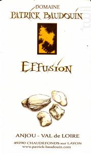 Effusion - Domaine Patrick Baudouin - 2018 - Blanc
