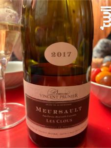 Meursault Les Clous - Domaine Vincent Prunier - 2016 - Blanc
