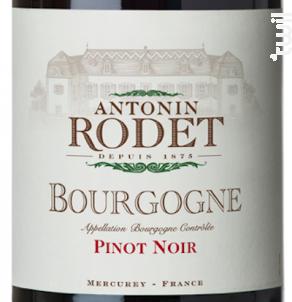 Bourgogne Pinot Noir - Antonin Rodet - 2017 - Rouge