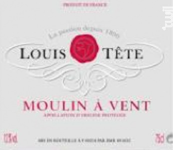 Moulin-à-vent - Louis Tête - 2018 - Rouge