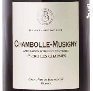 Chambolle-Musigny Premier Cru Les Charmes - Jean-Claude Boisset - 2017 - Rouge