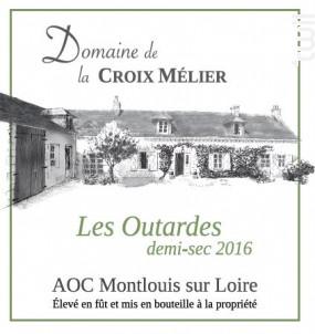 Montlouis-sur-Loire Demi-Sec Les Outardes - Domaine de la Croix Mélier - 2016 - Blanc